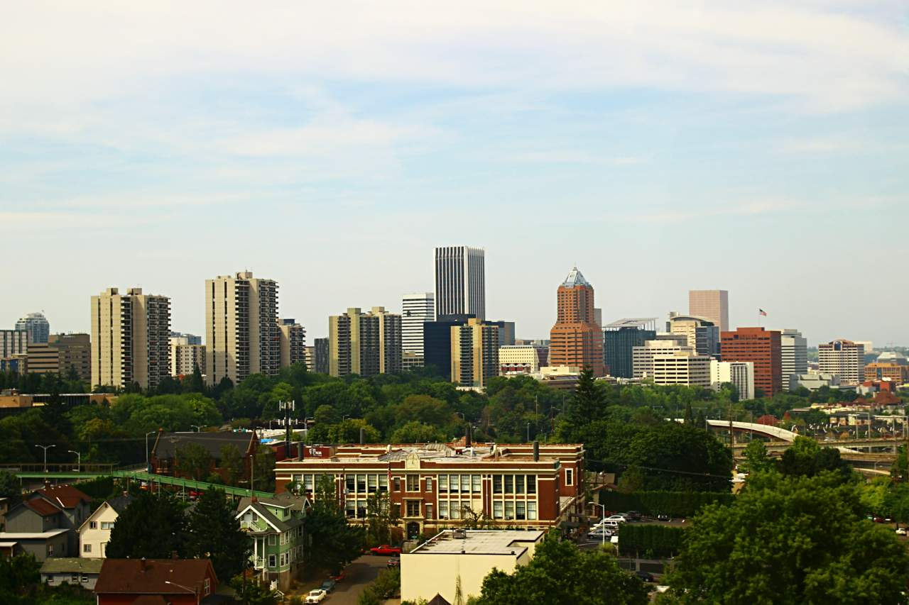 View of downtown Portland.